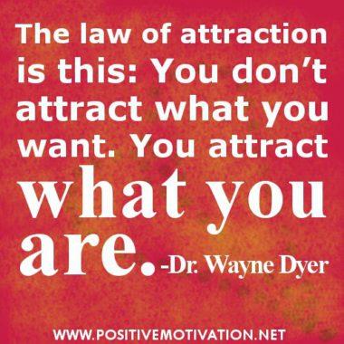 Du tiltrekker deg det du er!